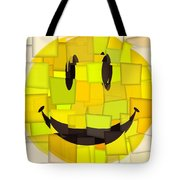 Cubism Smiley Face Tote Bag
