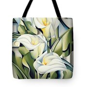 Cubist Lilies Tote Bag by Catherine Abel