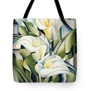 Cubist Lilies Tote Bag