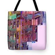 Colorful Old Buildings Of New York City - Pop-art Style Tote Bag