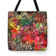 Tulips Of Many Colors - Nyc Markets Tote Bag