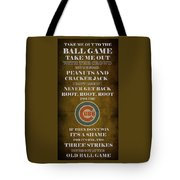 Cubs Peanuts And Cracker Jack  Tote Bag