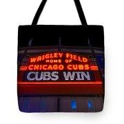 Cubs Win Tote Bag