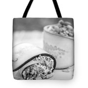Cucumber Rolls Black And White Tote Bag