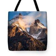 Cuernos Del Paine At Sunrise Tote Bag