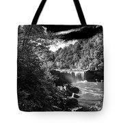 Cumberland Falls Seven Bw Tote Bag