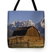 Cunningham Cabin Grand Tetons Wyoming Tote Bag