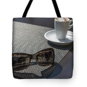 Cup Of Coffee And Sunglasses Tote Bag