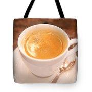 Espresso In White Tote Bag