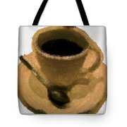 Cup Of Coffee Pissaro Style Tote Bag
