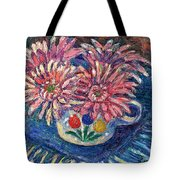 Cup Of Flowers Tote Bag