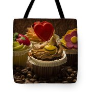 Cupcakes And Coffee Beans Tote Bag