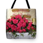 Cupcakes And Roses Tote Bag by Terri Waters