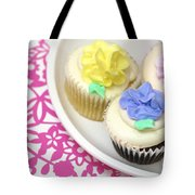 Cupcakes On A Plate Tote Bag