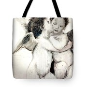 Cupid And Psyche By William Bouguereau Tote Bag