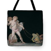 Cupid Led By Butterflies Tote Bag