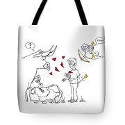Cupid Valentines Tote Bag