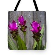 Curcuma Flowers Tote Bag
