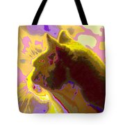 Curiosity And The Cat 2 Tote Bag