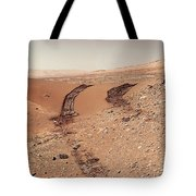 Curiosity Tracks Under The Sun In Mars Tote Bag