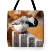 Curious Chickadee Tote Bag
