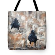 Curious Crows  Tote Bag