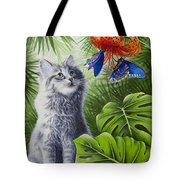 Curious Kiwi Tote Bag by Carolyn Steele
