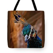 Curious Peacock Digital Art Tote Bag