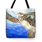 Curious Sea Turtle Tote Bag