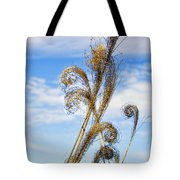Curled Grasses Tote Bag