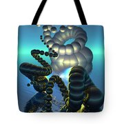 Curled Serpent Tote Bag