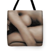 Curled Woman Tote Bag