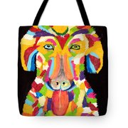 Curly Colorful Retriever Tote Bag