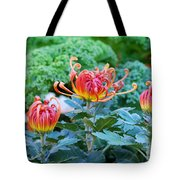 Curly Flowers Tote Bag