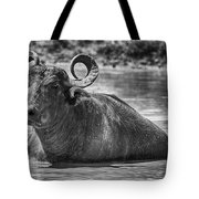 Curly Horns-black And White Tote Bag