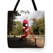Curly Q In Autumn Sun Tote Bag