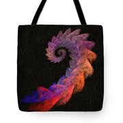 Curly Swirl - Digital Painting Effect Tote Bag