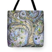 Curly Tree In Fantasy Land Tote Bag