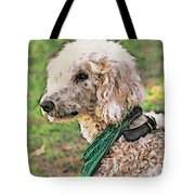 Curly White Dog Tote Bag