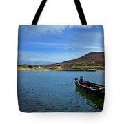 Curragh Moored At Dooega Village Tote Bag