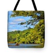 Current River Mo - Digital Paint Tote Bag