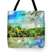 Current River Mo - Digital Paint II Tote Bag