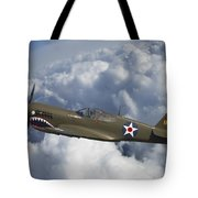 Curtiss P-40 Warhawk Flying Tigers Tote Bag
