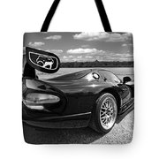 Curvalicious Viper In Black And White Tote Bag