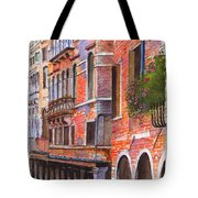 Curved Canal Venice Tote Bag