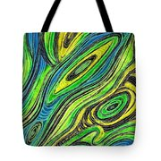 Curved Lines 5 Tote Bag by Sarah Loft
