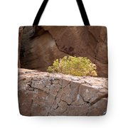 Curved Rocks And Bush Tote Bag