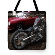 Custom Bike And Porsche Tote Bag