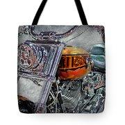Custom Bike In Orange And Black Tote Bag