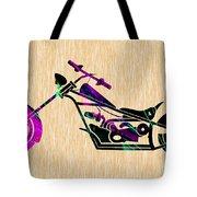 Custom Chopper Motorcycle Tote Bag